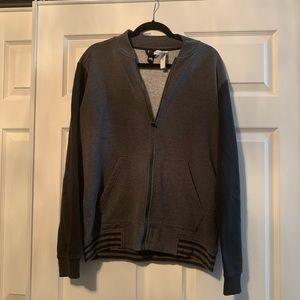 Men's adidas black and grey zip up jacket